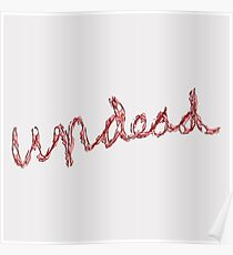 """""""undead"""" hand drawn lettering Poster"""