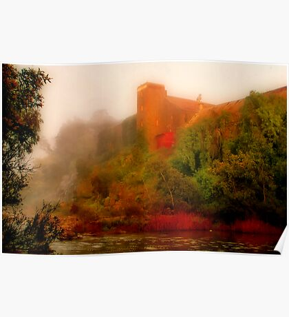 """""""Morning Mist at the Mill"""" Poster"""