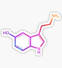 Pegatina Serotonina - Arcoiris