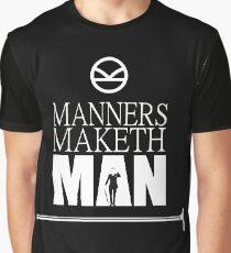 Kingsman - Manner maketh man Slogan, kingsman quotes Graphic T-Shirt