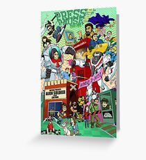 Press Pause Radio 5th Year Anniversary Poster Greeting Card