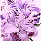 Purple Lillies for #CreateArtHistory by Tatyana Binovskaya