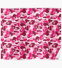 camo pink bape Poster