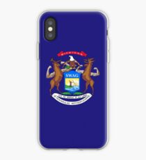 Michigan Flag Redone iPhone Case
