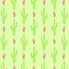 «Patrón de cactus verde y rojo» de EuGeniaArt