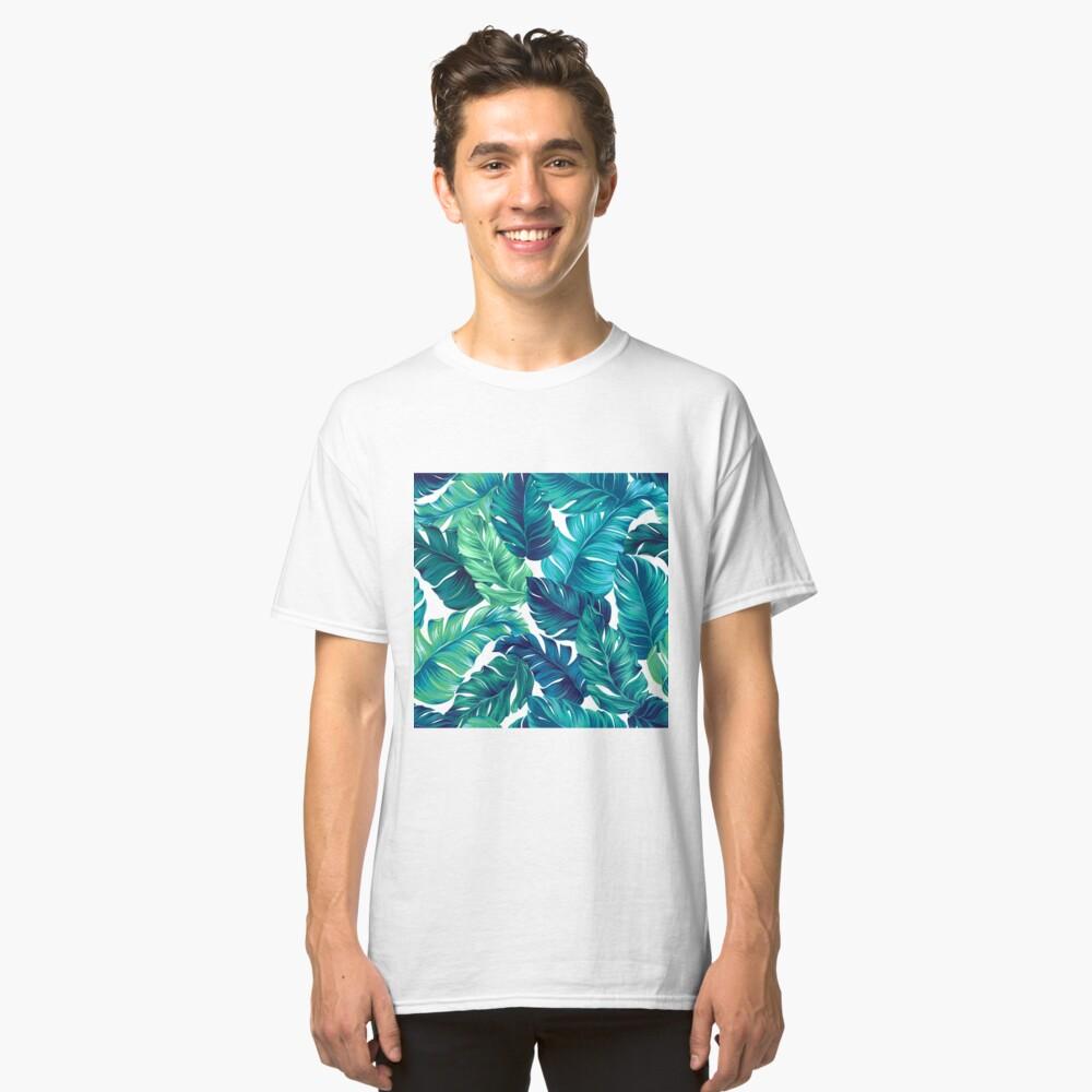 Flippiges Bananenblattmuster. Classic T-Shirt