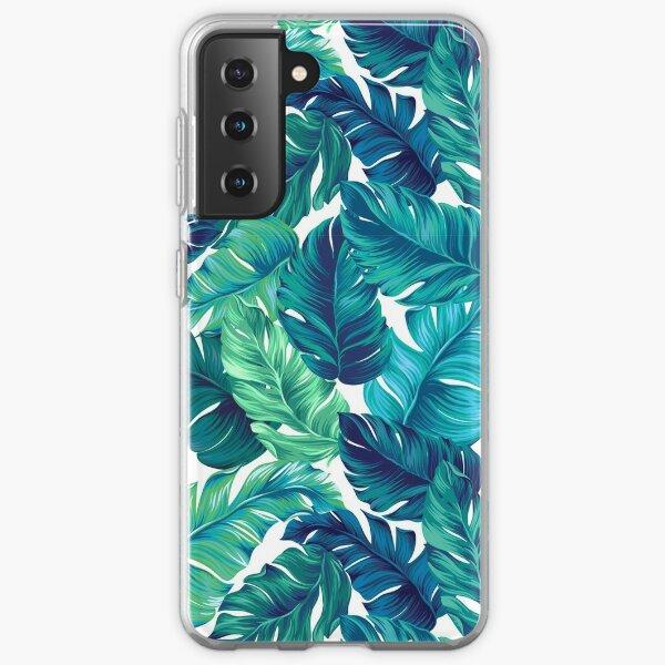 Funky banana leaf pattern.  Samsung Galaxy Soft Case