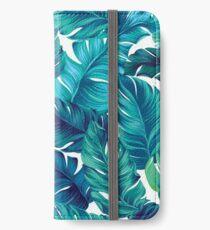 Flippiges Bananenblattmuster. iPhone Flip-Case/Hülle/Klebefolie