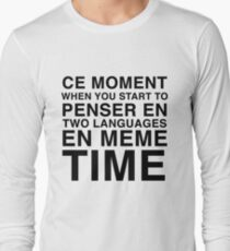 Thinking in French and English | Bilingual Humour T-Shirt