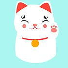 Lucky happy Japanese cat by EuGeniaArt