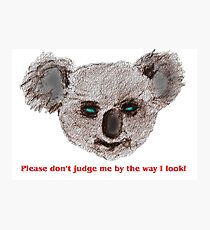 Please don't judge me! Photographic Print