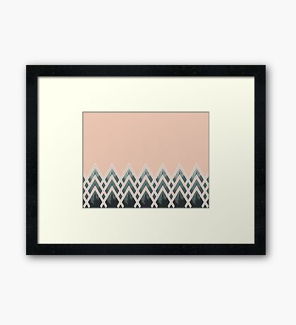 Mountains Déco #redbubble #decor #buyart Framed Print
