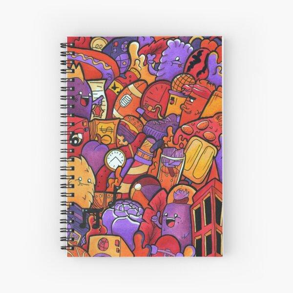 Copic Marker Doodle Spiral Notebook