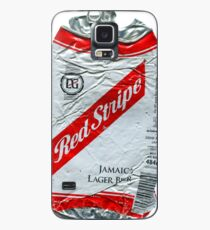 Red Stripe - Crushed Tin Case/Skin for Samsung Galaxy
