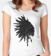 Warbonnet Skull Women's Fitted Scoop T-Shirt