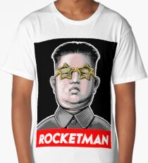 Rocketman Donald Trump Kim Jong-Un Rocket Man T Shirt Long T-Shirt