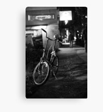 Lonely bike | digital photography  Canvas Print