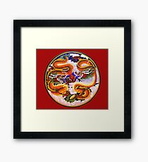 Chinese Dragons with Pearl of the Sea Framed Print