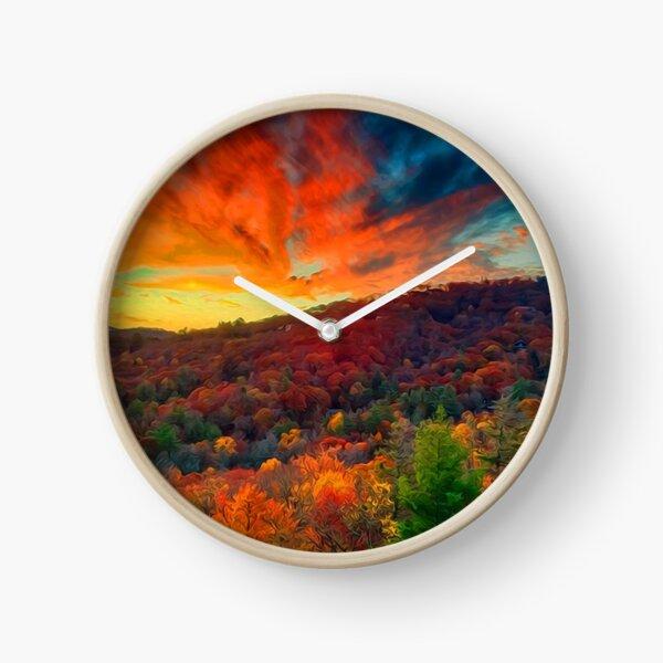 Autumn in North Carolina Clock