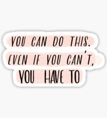 Motivation dahinter (Pink Version) Sticker