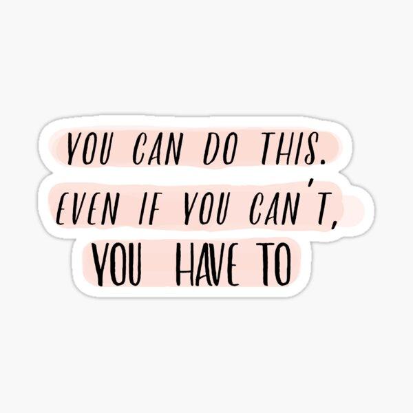 Motivation dahinter (Pink Version) Sticker