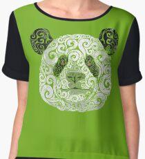 Swirly Panda Chiffon Top