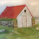 Boat Shed, Vigur Island by Linda Ridpath