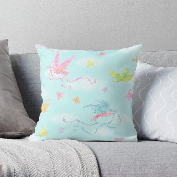 Birds and Butterflies Throw Pillow