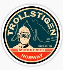 Trollstigen - The Troll Road Norway Sticker