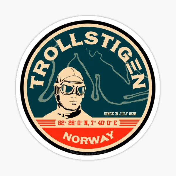 Trollstigen 1 - The Troll Road Norway Sticker