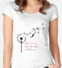 u2 kite for white Women's Fitted Scoop T-Shirt