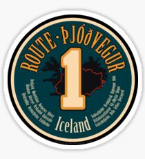 Route 1 - Iceland Sticker