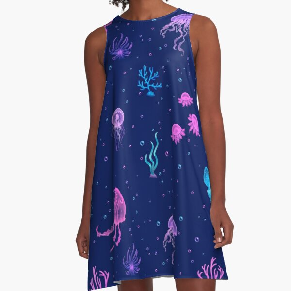 Bubble Jellyfish sea A-Line Dress