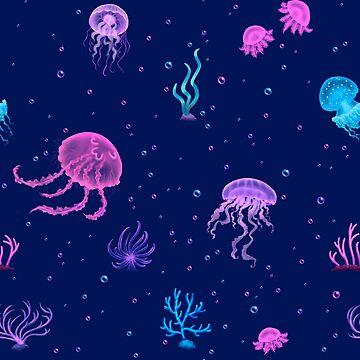Bubble Jellyfish sea by petravb