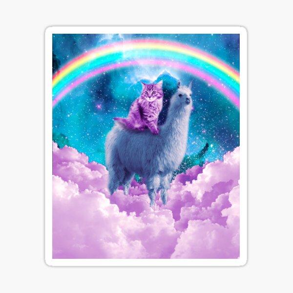 Rainbow Llama - Cat Llama Sticker