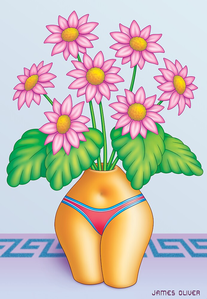 EROTIC  VASE  ONE  -  BIKINI by James Oliver