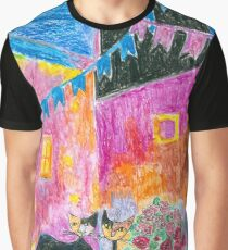 Two Abstract Cats Graphic T-Shirt