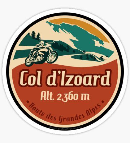 Route des Grandes Alpes France Motorcycle T-Shirt Sticker - Col d'Izoard 1 Sticker