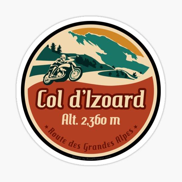 Col d'Izoard 01 Motorcycle T-Shirt + Sticker - Route des Grandes Alpes   Sticker