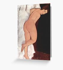 Reclining act 1917 Amedeo Modigliani Greeting Card