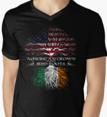 American Grown with Irish Roots Men's V-Neck T-Shirt