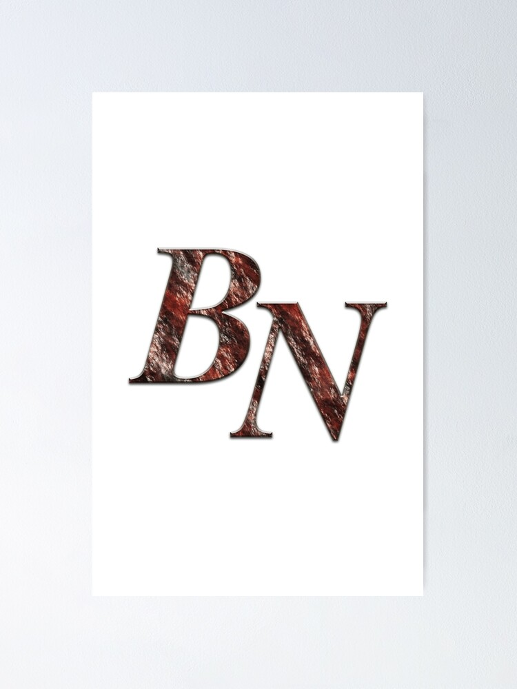 Double Monogram Bn Poster By Studio Cfnw11 Redbubble