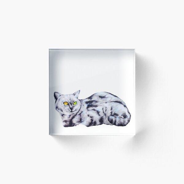 Sunny Cat Acrylic Block