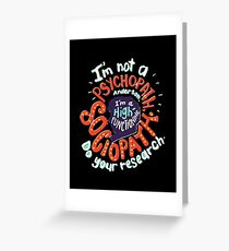 the detective series Greeting Card