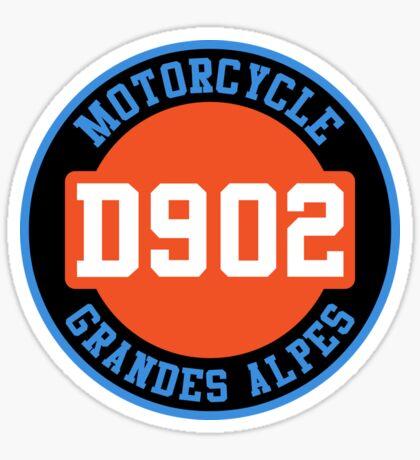 D902 - Motorcycle Grande Alpes T-Shirt Sticker Sticker