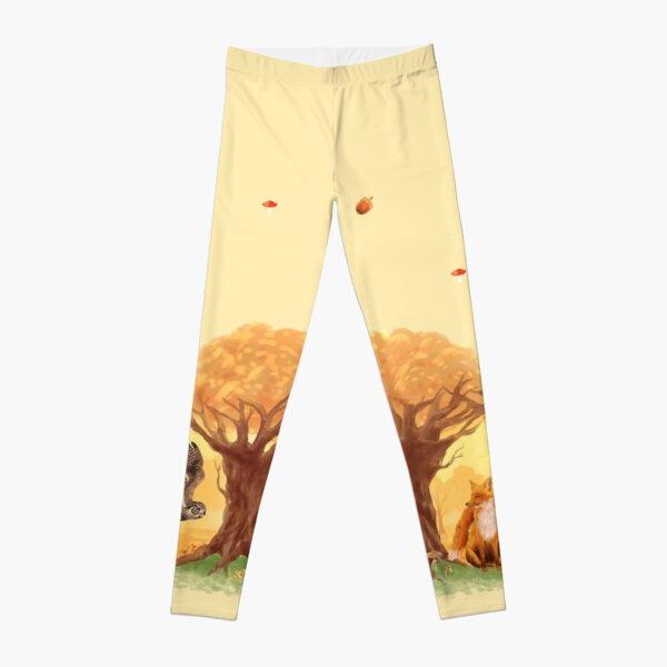 Sunny Forest Animals Leggings