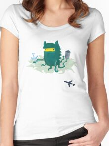 Octogrr Alien Holiday Women's Fitted Scoop T-Shirt