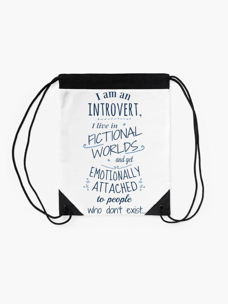 Vista alternativa de Mochila saco mundos introvertidos, ficticios, personajes ficticios