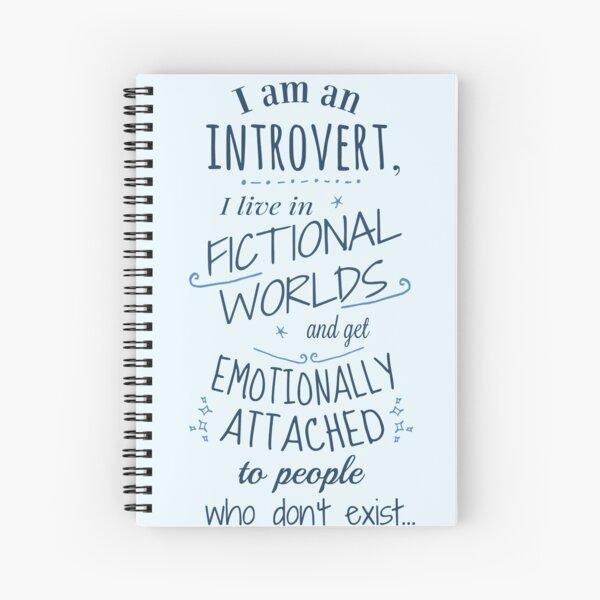 introverti, mondes fictifs, personnages fictifs Cahier à spirale
