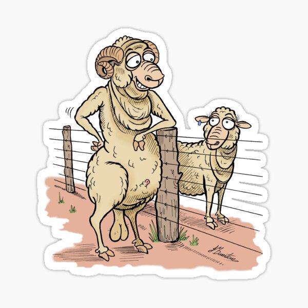 The Ewe Next Door Sticker